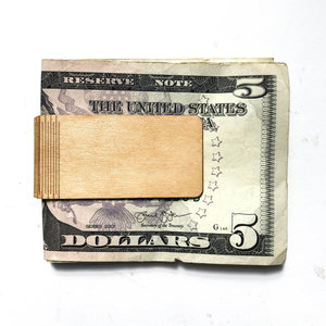Autumn Summer Money Clip | Wood | Maple