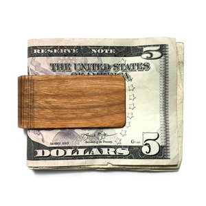 Autumn Summer Money Clip | Wood | Cedar