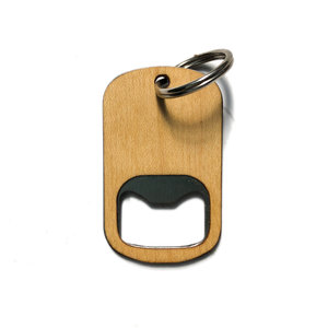 Autumn Summer Bottle Opener | Wood Keychain | Maple