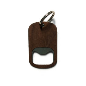 Autumn Summer Bottle Opener | Wood Keychain | Walnut