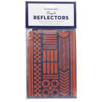 Kikkerland Bike Reflector Stickers | Red