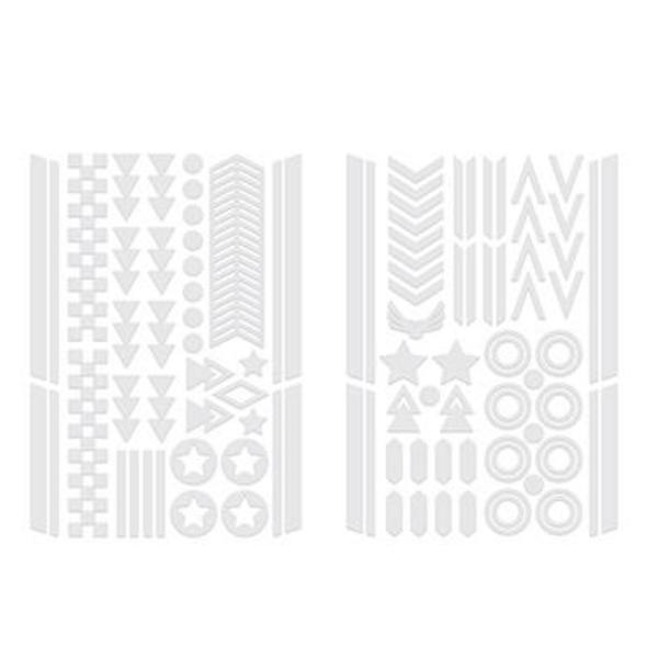Kikkerland Bike Reflector Stickers | Silver