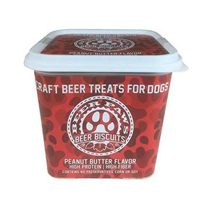 Beer Paws Beer Biscuits | Peanut Butter | 12oz Tub