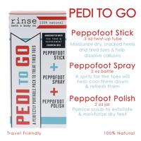 Rinse Bath & Body Pedi-To-Go Set