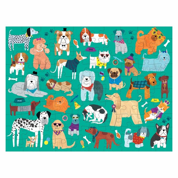 Chronicle Books Puzzle | 100 PCS Double-Sided | Cats & Dogs