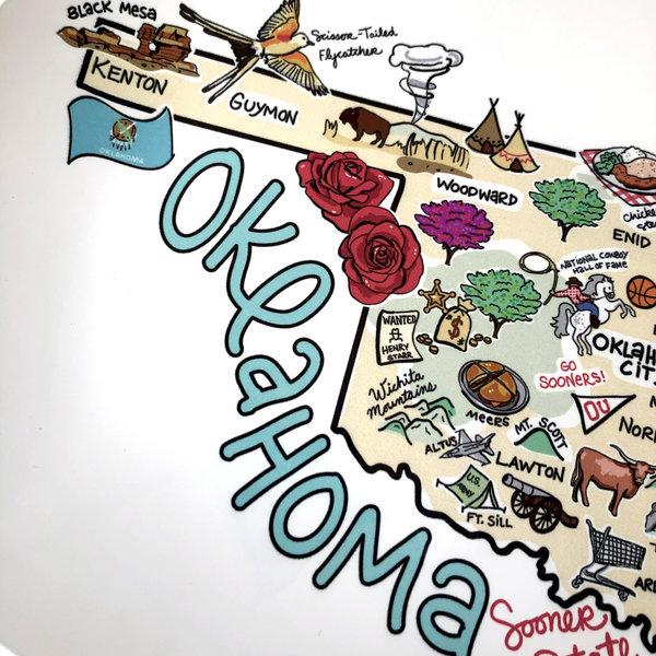 Fish Kiss Platter | Oklahoma Map