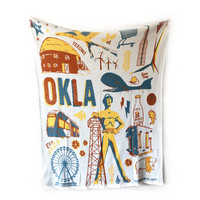 in2green Eco Throw Blanket | Oklahoma Icons