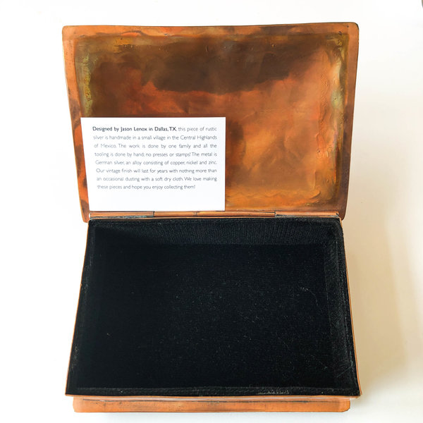 J. Alexander Rustic Silver Stamped Copper Box | Arrow