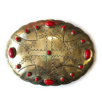 J. Alexander Rustic Silver Stamped Box | Silver Oval | Coral