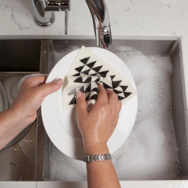 Now Designs Swedish Dishcloth   Black