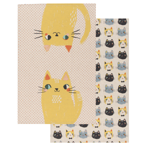 Now Designs Tea Towel Set | Cat Meow Meow