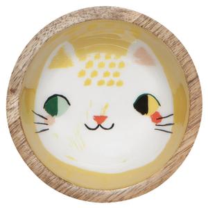 Now Designs Mini Bowl   Mango Wood   Meow Meow