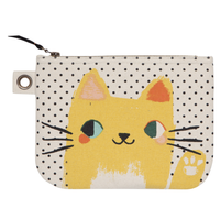 Zip Pouch   Large Meow Meow