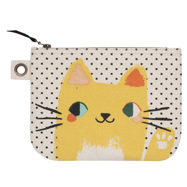 Now Designs Large Zip Pouch | Meow Meow
