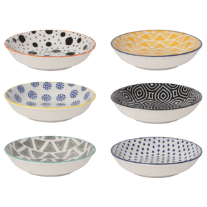 Now Designs Pinch Bowls | Bits & Dots | Set/6