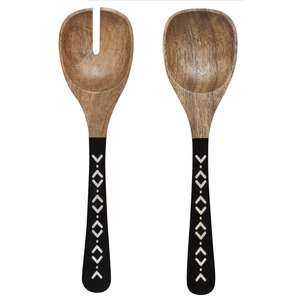 Now Designs Salad Servers | Mango Wood | Ziggy