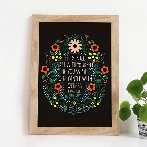 GINGIBER Art Print | 8x10 | Be Gentle with Yourself