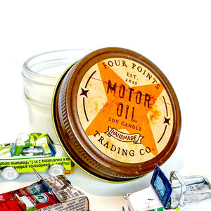 Four Points Trading Company Candle | Motor Oil