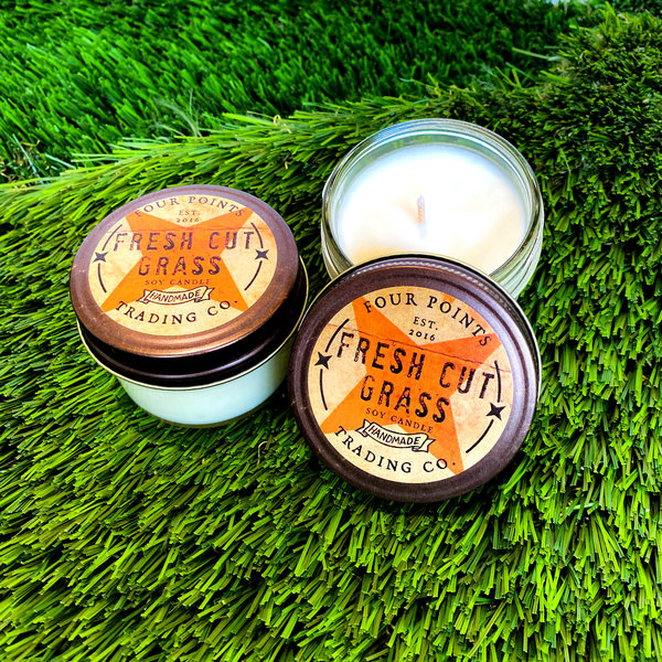 Four Points Trading Company Candle | Nostalgia | Fresh Cut Grass