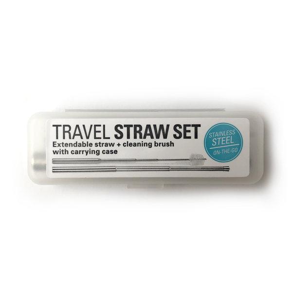 Kikkerland Straw   Travel Set