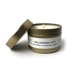 Vacant Wheel Candle   Oklahoma Scents