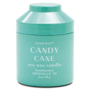 Paddywax Candle | Candy Cane Candle | Whimsy Tin 3oz
