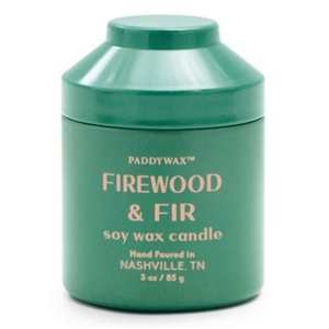 Paddywax Firewood Fir Candle | Whimsy Tin 3oz
