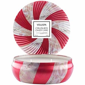 VOLUSPA Candle | Crushed Candy Cane | 3-Wick Tin