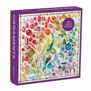 Chronicle Books Puzzle | 500pc | Rainbow Ornaments