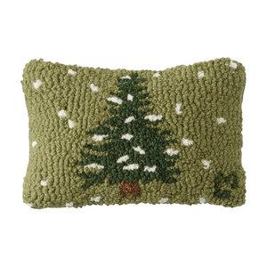 Chandler 4 Corners Hooked Pillow | 8x12 | Flurries