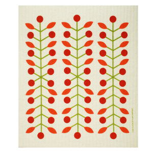 Cose Nuove Swedish Dischloth | Leaves & Berries | Green