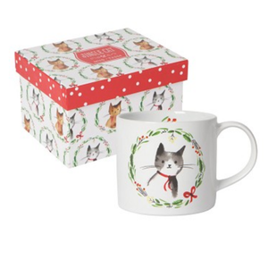 Now Designs Boxed Mug | Jingle Cat
