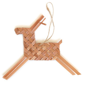 Roost Ornament | Stockholm Woven Reindeer