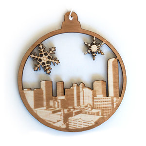 Rooted & Built Design Ornament | Oklahoma Skyline