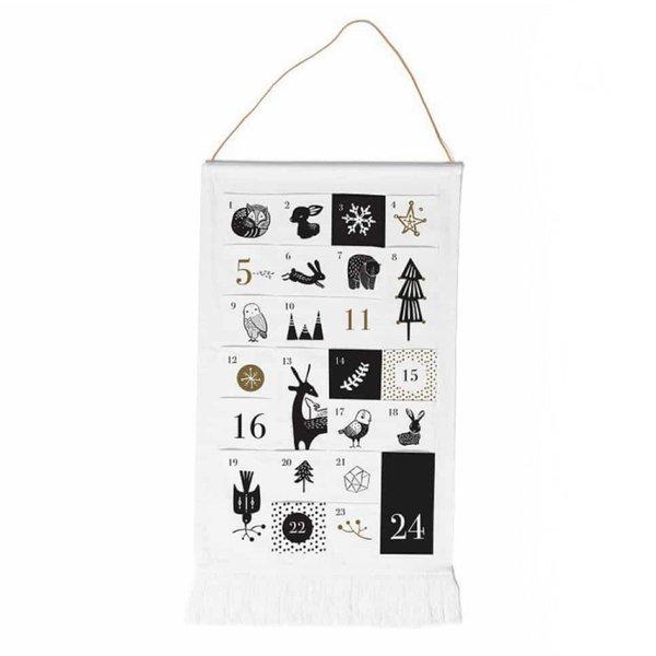 Wee Gallery Advent Calendar | Black & White Cloth
