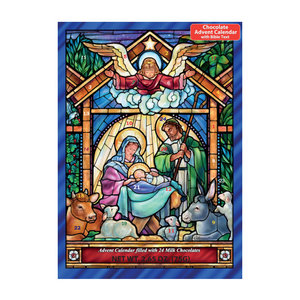 Vermont Christmas Company Chocolate Advent Calendar | Stained Glass Nativity