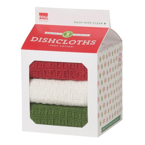 Now Designs Dishcloth | Waffle | Holiday Set/3