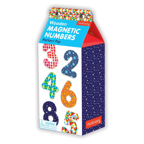 Chronicle Books Magnetic Wood Numbers | Pattern Pop