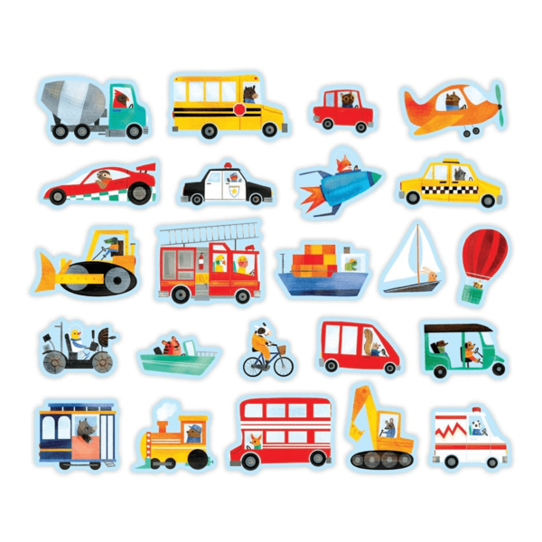 Chronicle Books Magnetic Wood Shapes | Transportation