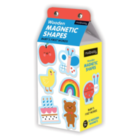 Chronicle Books Magnetic Wood Shapes   Baby's First Words