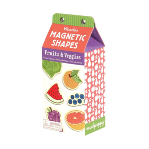 Chronicle Books Magnetic Wood Shapes | Fruits & Veggies