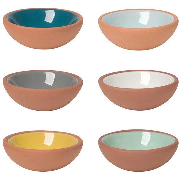 Now Designs Pinch Bowls   Terracotta   Set/6