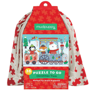 Chronicle Books Puzzle To Go | Christmas Train