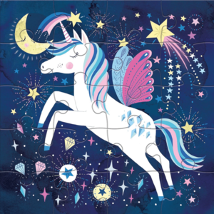 Chronicle Books Magnetic Puzzle | Magical Unicorn