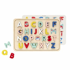 Petit Collage Puzzle | Wood Tray ABC