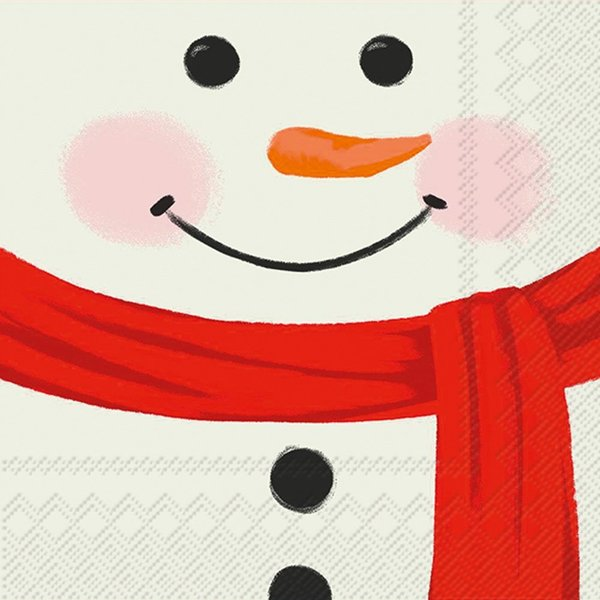 Boston International Cocktail Napkin | Snowman Face
