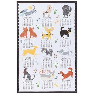 Now Designs Tea Towel | Canine Calendar 2020