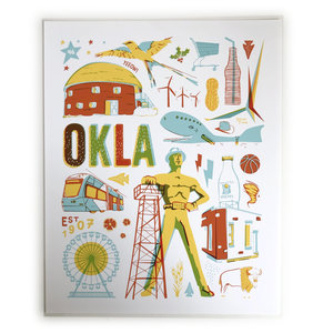 Giclee Today Print | 8x10 | Oklahoma Icons