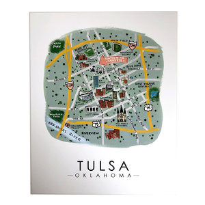 Sugar Mint Art Print | OK Map | Tulsa