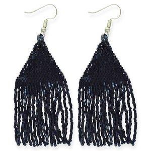 Earring | Petite Fringe Black